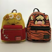 Bundle Loungefly Disney Winnie The Pooh And Tigger Cosplay Striped Mini Backpack