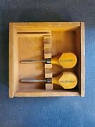 2 Millers Falls Wood Carving Tools, Wood Handles Very Good Condition +box