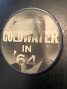 1964 Goldwater In '64 Flasher Political Campaign Lapel Pin Button
