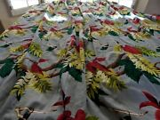 Barkcloth Tropical Pair Drapes Pleated/lined 86l X722 Panels=12and039 South Beach
