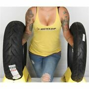 130/70b 18 180/65b 16 Dunlop American Elite Bw Front And Rear Tire Kit - 2 Tires