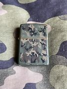 1985 1986 Vintage Zippo Lighter Army Camo Camouflage Lighter Green Matte Finish