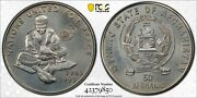 Afghanistan Unc 50 Afghanis Coin 1995 Year Km1026 United Nations Pcgs Ms68