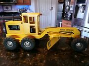 Classic Vintage 1960s Yellow Tonka Road Grader Great Condition Pressed Steel 17andrdquo