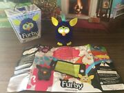 Purple Interactive Furby In Original Box With Paper/instructions,tested Works