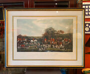 19th Century English Print Of Sir Richard Sutton And The Quarn Hounds