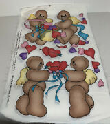Daisy Kingdom Bears Craft Fabric Valentine Delivery 6921 Laurie 10 Panels 1993