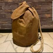 Used Rrl Leather Cowhide Suede Sailor Bag Rare