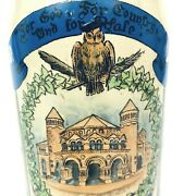 Yale University Mettlach .5l Antique German Beer Stein Made In 1896 Hard To Find