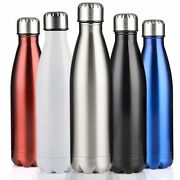Stainless Steel Water Bottle Double Wall Insulated Vacuum Flask Sports Thermos