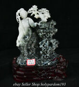 9.4 Chinese Natural High Quality Dushan Jade Tree Beauty Xiao Qiao Statue