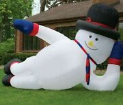 New Giant Inflatable Airblown Snowman Santa Christmas Yard Decor Frosty Blow Up