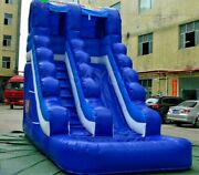 23ft Commercial Inflatable Bounce Water Slide Blue Giant With Air Blower