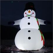 New Giant Inflatable Airblown Snowman Christmas Decor Large Yard Frosty Blow Up