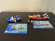Lego City 60005 Fire Boat With Instructions