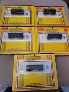 N-scale Double Bay Hopper Cars Lot Of 5 By Micro-trains Undecorated = Brand New