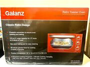 Galanz Grh1209rdmc151 Retro Toaster Oven, True Convection, Hot Rod Red. New