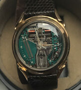 1960andrsquos Bulova Accutron Spaceview Solid 14k Gold Gents Watch And Boxed