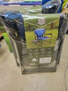 Timber Ridge Folding Directorand039s Chair With Side Table Cupholder And Phone Holder