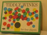 1963 Vintage Whitman Bulland039s Eye Tiddly Winks Game With Plastic Game Pieces