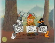 I Give Up Season Chuck Jones Cel Limited Edition Looney Tunes Signed Art