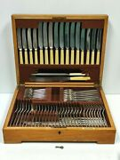 Vintage/antique Elkington Silver Plated 80 Piece 8 Place Canteen Of Cutlery