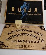 Vintage 1940and039s Wood Oracle Ouija Board William Fuld With Box And Planchette