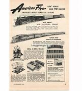 1950 American Flyer Trains Accessories 3/16 S Ho Scale Vintage Ad