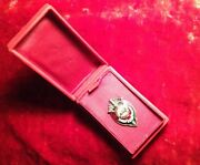 Mongolian Soviet Russian Kgb Nkvd State Security Badge In Presentation Box Early