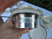 Beautiful Hand Hammered Antique Sterling Silver Ramekin Lenox Cup Holders