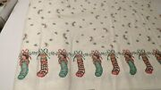 Daisy Kingdom Christmas Fabric Socks And Bows Border Past And Presents Collection 5+