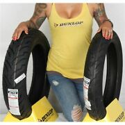 130/70 18 160/70 17 Dunlop American Elite Bw Front And Rear Tire Kit - 2 Tires