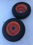 1974 Case 446 Garden Tractor 96965483 Part Rear Wheels And Good Year Tires 8-16