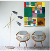Contemporary Wall Decorabstract Acrylic Painting On Canvasmodern Artcheckers