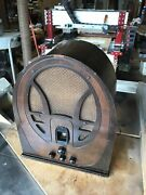 Vintage Philco 89 Art Deco Cathedral Tube Radio -for Repair Or Parts