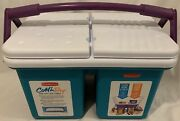 Rubbermaid Cold N Dry Large Insulated Cooler 2 In 1 Ice Chest 9 Gallon Usa Vtg