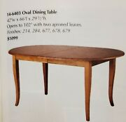 Ethan Allen Country Colors Shaker Dining Table 14-6403 Finish 214 Wheat