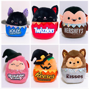 8 Squishmallows X Hershey Set Of 6 Halloween Candy Squad Plush Dolls Toy