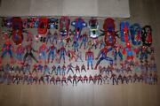 Huge Lot 110 Marvel Spider-man Movie Action Figures Vehicles Toys Hasbro Rare