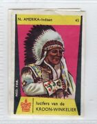 National Dress Matchbox Label. Usa - North American Indian Chief