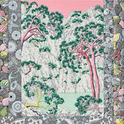 Hermes Scarf Stole Shawl Sieste Au Paradis By Aline Honore Silk Woman New 140 Cm