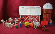 Vtg 1968 Fisher Price Little People Play Family Farm Set 915 Silo Tractor Horse