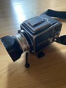 Hasselblad 500c Camera Zeiss Planar 80mm F/2.8 Lens Exc Cond + Mount +lens +a24