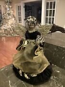 Christmas Angel Tree Topper 13andrdquo African American Cheetah Brown Velvet And Gold .