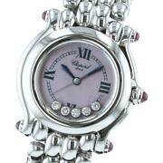 Chopard Happy Sports 5p Pink Mop Watch Quartz / 8250-21 Ladyand039s From Japan Y1007
