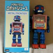 Used Metal House Robot Series Metal Frontier Tin Robot Figure With Box