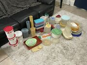 Vintage Tupperware 104 Piece Lot Some Difficult To Find Pieces