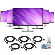 5 X Dell Full Hd 1080p 169 Ips Monitor + 5 X Hdmi Cable + Lcd Cleaning Kit