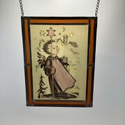 Hanging Stained Glass Hummel Angel Christmas Decoration Ars 2138/4000