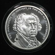 2017 Silver Shield 1 Ounce Silver The Happiness Of Society Is The End Of Govt